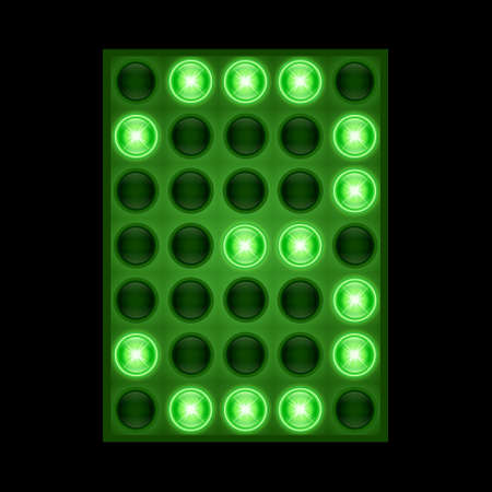 Number three 3 on green LED display.
