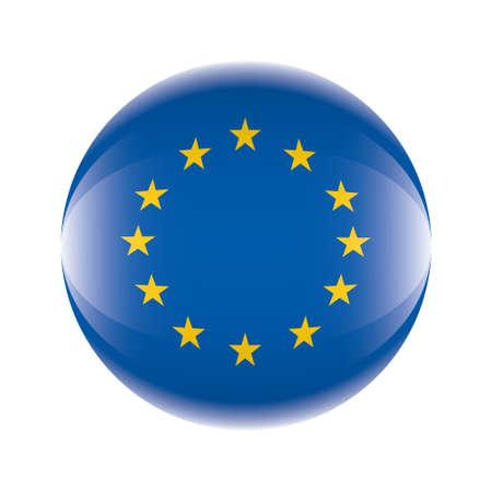 Europa flag icon Vector eps 10