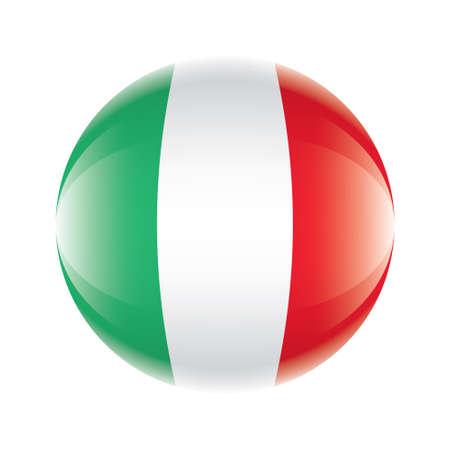 Italy flag icon Ilustrace