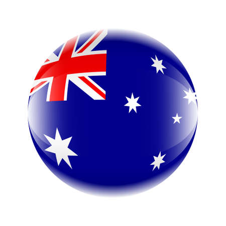 Australia flag icon in the form of a ball. Vector eps 10 Ilustrace