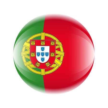 Portugal flag icon in the form of a ball. Ilustrace
