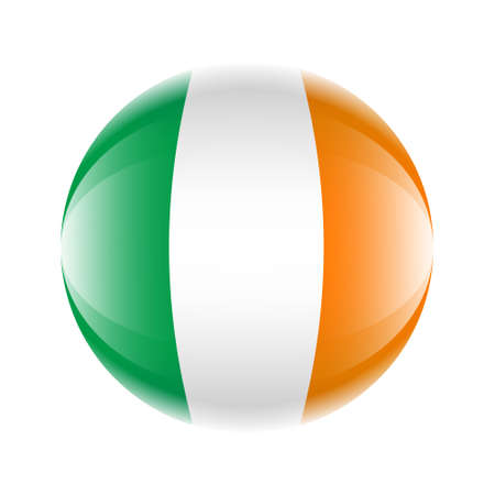 Ireland flag icon in the form of a ball. Vettoriali