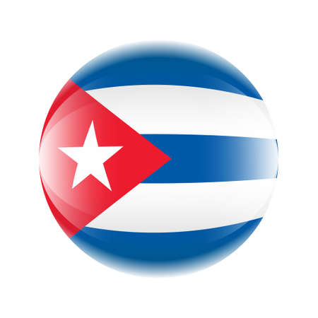 Cuba flag icon in the form of a ball. Vector eps 10