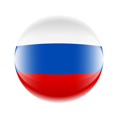 Russia flag icon in the form of a ball.