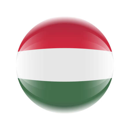 Hungary flag icon in the form of a ball. Ilustrace