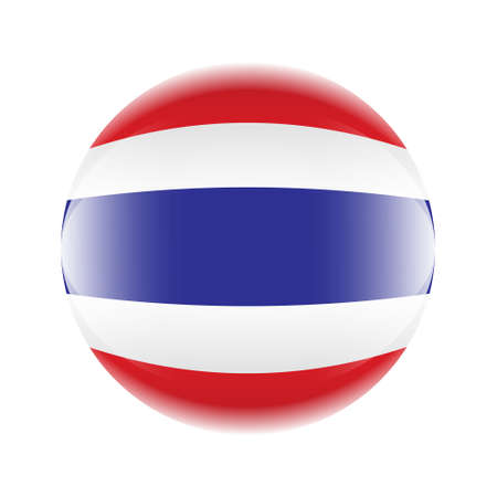 Thailand flag icon in the form of a ball. Иллюстрация