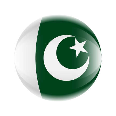 Pakistan flag icon in the form of a ball.