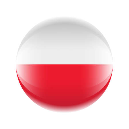 Poland flag icon in the form of a ball. Ilustrace