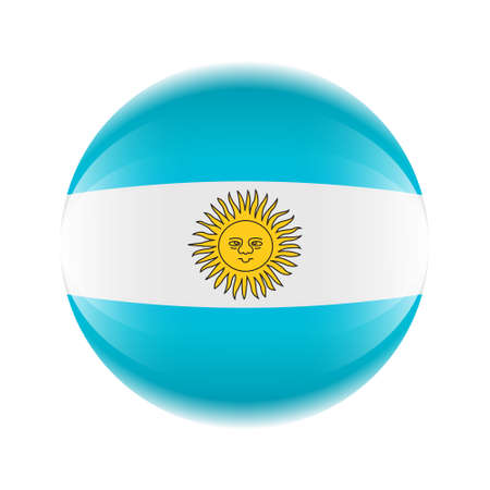 Argentina flag icon in the form of a ball. Vector eps 10 Ilustrace