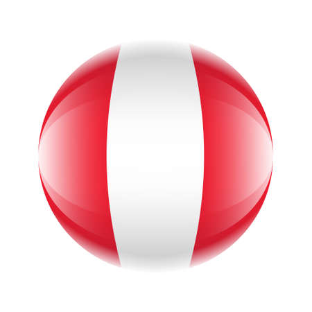 Peru flag icon in the form of a ball.