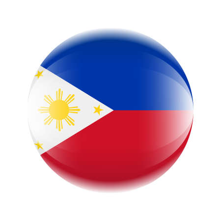 Philippines flag icon in the form of a ball. Vector eps 10