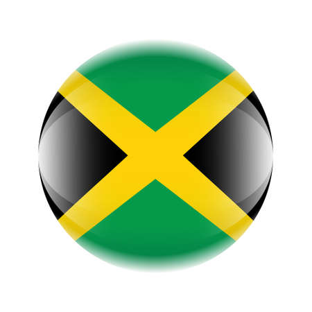 Jamaica flag icon in the form of a ball. Vettoriali