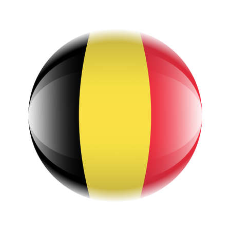 Belgium flag icon in the form of a ball. Vector eps 10