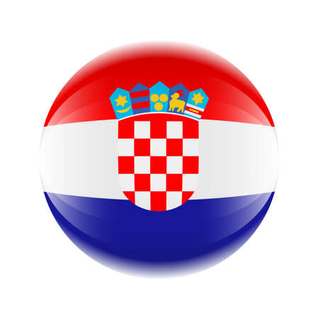 Croatia flag icon in the form of a ball. Vector eps 10