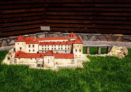 spire: Miniature of the old fortress in the city of Kamenets-Podolsky in the Museum of the Fortress of Ukraine.