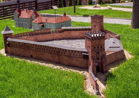 Miniature of the old fortress in the city of Kamenets-Podolsky in the Museum of the Fortress of Ukraine.