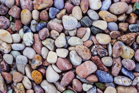 Many sea stones of different color and size. Smooth stone. Pebbles. Stok Fotoğraf