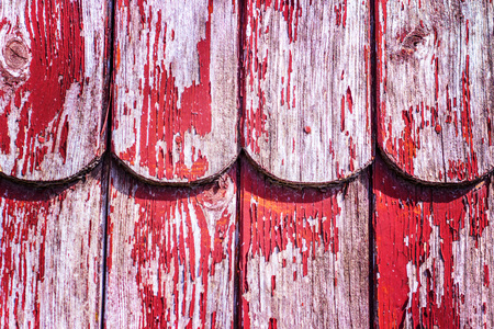 Wooden Shingles of wall siding of historic Black Forest farmhouse, Germany, Europe
