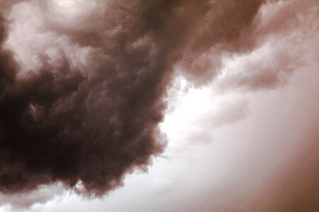 Acid Rain Clouds. Scary Image of Power Plant emissions in America Stok Fotoğraf