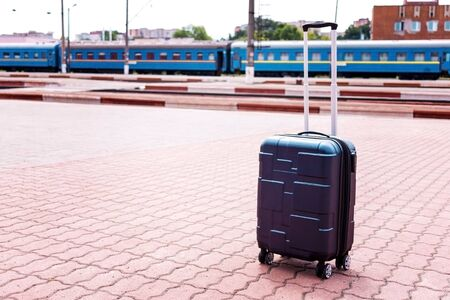 Luggage on wheels, travel and train travel