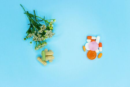 Natural and synthetic medicines, background or texture. Stok Fotoğraf