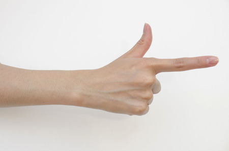 hand gun: hand gun