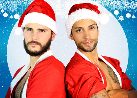 two sexy santa
