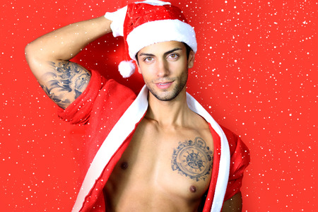sexy santa: Sexy santa claus Stock Photo