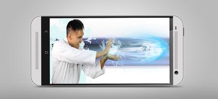 karat: the speed of 4G shown by a man throwing a fireball