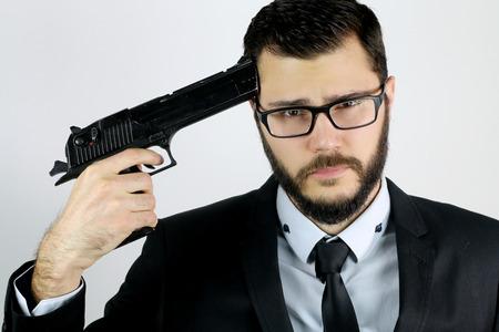 attempts: portrait of a businessman who attempts suicide