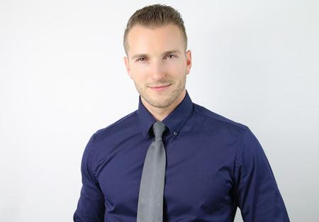handsome man: portrait of a young businessman