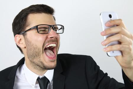 man doing a selfie Standard-Bild
