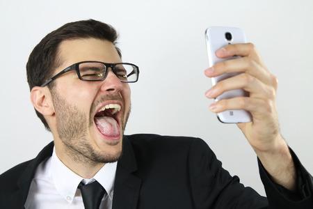 Young businessman making a selfie Standard-Bild