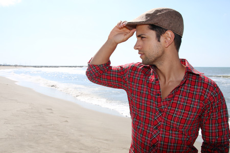 french model: man wearing a beret