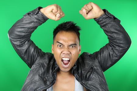 thai arts: Asian man shouting
