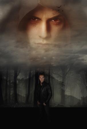 a vampire story Standard-Bild