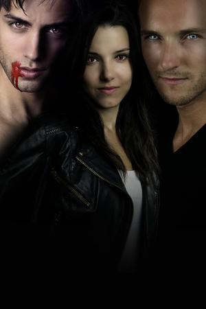 A vampire story - vampire romance entre Stock Photo