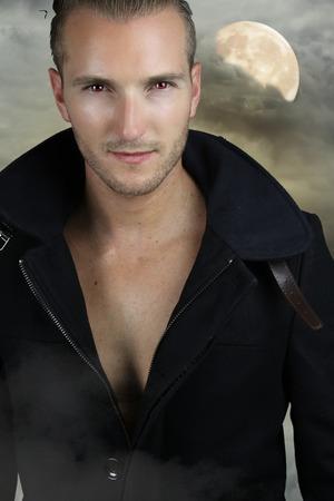 Young werewolf - handsome blond man