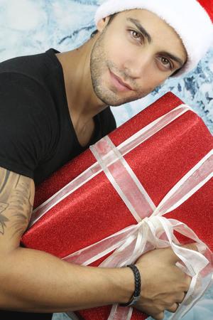 the christmas season - handsome man