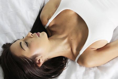 nightie: beautiful woman wearing a nightie