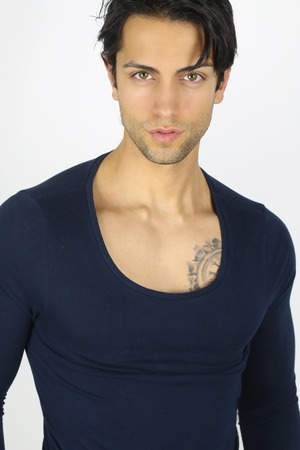 sexy guy: handsome brown guy