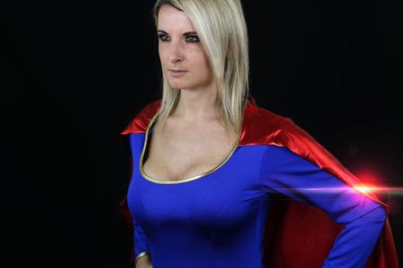 supergirl sexy posing 版權商用圖片