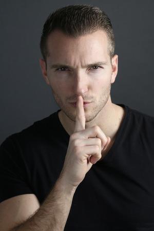 shut: Silence - handsome guy shut Saying