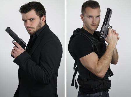 cops: The super cops - two young cops posing