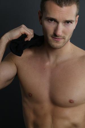 handsome guy: handsome shirtless man