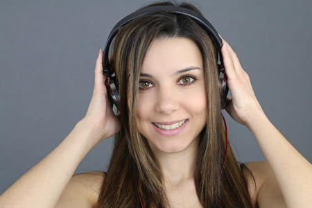 listing: Beautiful girl listing music