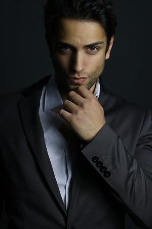 supermodel: supermodel - elegant man posing
