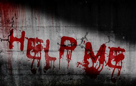 help me: Horror text - Help Me