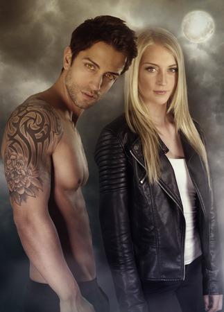 a vampire story - vampire couples Stock Photo
