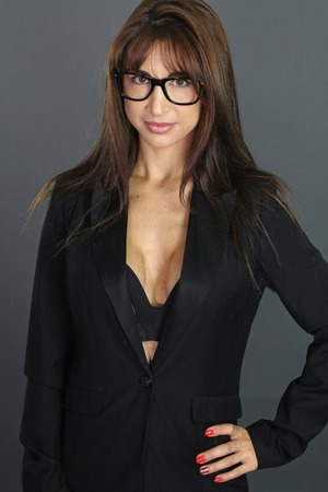 sexy secretary: sexy secretary wearing glasses